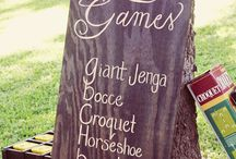 Outdoor Games Wedding Ideas / Lawn Games are the perfect addition to a rustic, outdoor tipi Wedding. Get family & friends to mingle by bringing out their playful & competitive side #lawngames #outdoorwedding #croquet #giantjenga #coconutshy #tipiwedding #teepeewedding #peaktipis