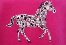 Cute Appaloosa Pony / Cute Appaloosa pony, shown here on the rider's favourite, a pink hoodie.  Also available as a Snow Pony, just as cute, for young riders.