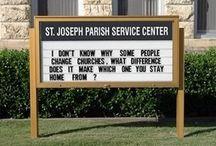Church signs / Brian Ebie's favorite church signs