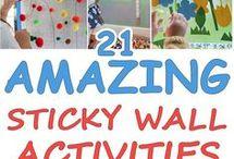 Sticky wall activities