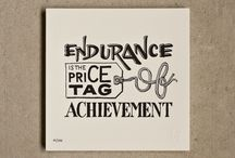 Endurance_May 2014 / Sticking with what you started even when it gets tough. (TM by Core Essential Values)