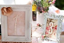 Table numbers frame ideas