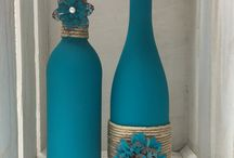 Botellas de vino pintadas y decoradas