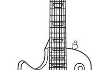 stencil chitarra