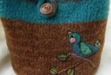 Felted projects / Felted items for the house, felted toys and bags