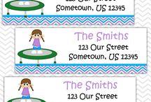 Address Labels Design Portfolio