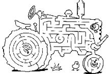 Free Farm and Tractor Printables / Free children's printable activities from our Tractor Mac 'Mactivity' book.