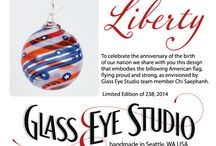 "The Story of ""Liberty""- Limited Edition Ornament / Meet the designer and see the process behind the production of Glass Eye Studio's limited edition ""Liberty"" ornament for Summer 2014!"