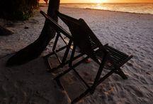 Blinding sun set