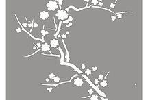 stencil blomstergren