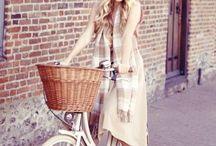 Elegancia na bicykli.