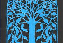 Niebieskie Drzewo The Blue Tree / Paper cuts, poetry, art,