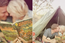 camping themed product photoshoot