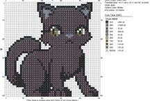 Схемы вышивки котов крестиком / Схемы вышивки крестиком котов и кошек