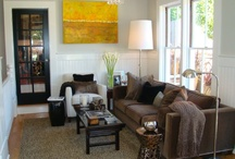 Decorating with Brown Couch / by Ashley Steinmetz