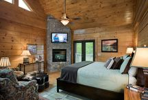 Beautiful Bedrooms- Honest Abe Log Homes / This board is about bedroom decor in a log cabins or log homes. It is for people that are searching from a variety of bedroom looks , especially those interested in Honest Abe Log Homes.