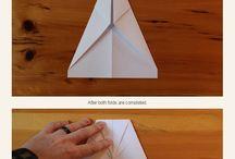 Making a paper air plane
