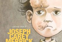 """Joseph Carey Merrick"" par Denis van P. / August the 5th 1862, was borned, in Leicester, the one who later will be called the Elephant Man.  Scenario : Van P, Denis & Perrotin, Serge. Drawing : Van P, Denis. Colors : Faymon."