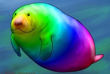 manatee love / by ms art