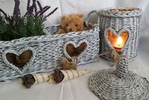 homemade traditional wicker hampers