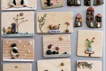 Rock/seaglass art ideas