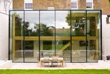 119 Castelnau / The project involved the refurbishment and extension of an existing Victorian House in Castelnau, Barnes. The main elements of the works included adding a two storey rear extension and a double storey height double-glazed structural glass enclosure.