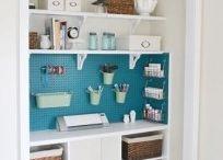 Craft room/ office / by Rachel Watson