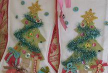 Meias de natal vintage