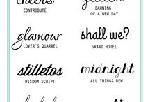 Crafts - Fonts / by Geri Johnson