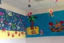 Notre belle déco d'astréa / Déco faite avec les enfants.  Principalement inspiré de Pinterest!