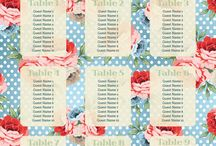 Floral Wedding Table Plans / Floral themed wedding table plans by Printed Table Plans