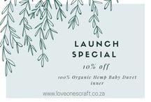 Organic Hemp Baby Linen - launch special / Organic Baby bedding