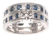 14k White Gold Semi-Mount Engagement Rings