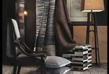 Shades of Brown / Industrial, textural, and with masculine chicness, this trend focuses on the raw and rugged beauty. Look to Surya for rugs, pillows, poufs, wall decor, and lighting to give your home the raw treatment.
