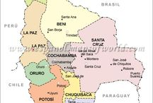 Mapa de Sur America / Maps of countries in South America (Mapa de Sur America)