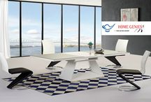 Dining Room Furniture / High gloss dining table and chairs