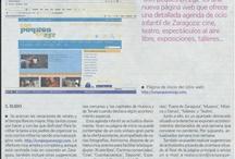 Nuestra web conpequesenzgz.com / Agenda de ocio online, con las actividades para peques más interesantes de Zaragoza