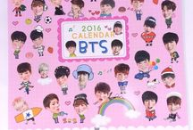 Korean Pop Star 2016 mini Wall Calendar