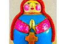 Artesanato em Cerâmica / Peça em Cerâmica confeccionada por conhecida Artesã de Pernambuco. Moldada e pintada à mão, cada peça é única e exclusiva.