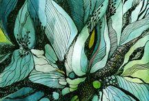 art - zen tangle paintings