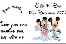 Disney Themed Wedding / Disney Inspired Pics
