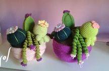 Amigurimi flores y cactus