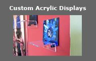 NEWPORT SIGNS   custom acrylic displays / shelves & brackets for component displays // face-mount acrylic displays
