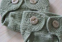 dětské pletené a háčkované oblečky