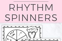 Rhythm Activities / Piano pedagogy, music, piano, piano lessons, piano lesson resources, worksheets, games, music education