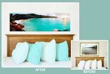 Bedroom Ideas / DECORATING WITH PICTURES AND PHOTOS
