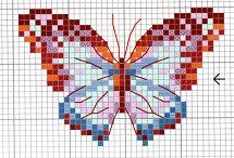 Cross stitch animals / Cross stitch patterns for various animals: cats, dogs, insects, etc.