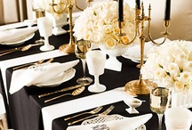 Black and White Table Decor / Discovering new ways to combine this classic duo for any party or event.
