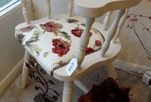 Vintage Captain's Chairs / How to update, glam up and make use of those homely chairs you inherited.