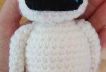 muñecos de  tejido